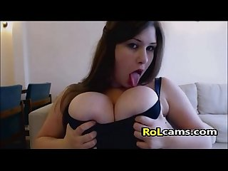 Big tit chubby pussy toying