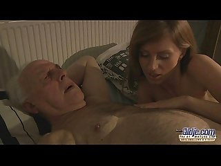 75 old grandpa sex blessed by russian hottie blonde