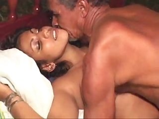 Dirty old indian muslim guy fucks a younger black girl