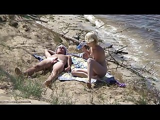 Nudists fuck on the beach
