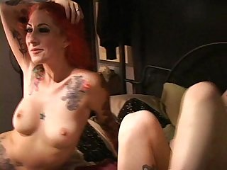 Tattooed cuties scarlett Storm and lotus at home squirting and cumming