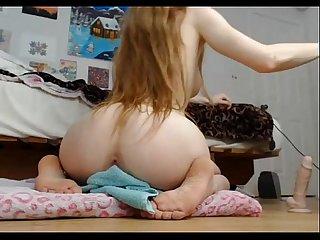 Hot babe teen riding on a dildo webcam of hot girls 69cams comli com