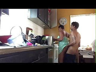 BBW Amateur Couple Homemade Kitchen Fuck