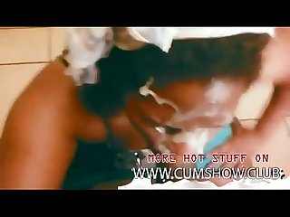 Huge assed Ebony Amateur Blowjob with very big Facial