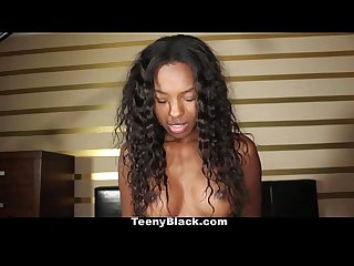 Teenyblack ebony teen armani monai loves sucking white cock