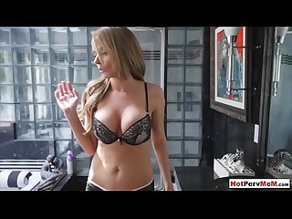 Fucking my busty MILF stepmother before dad comes home