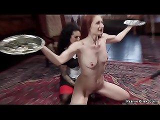Orgazmic anal threesome bondage fucking