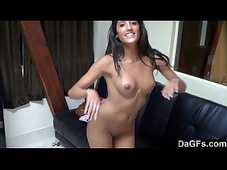 Pov fuck with a beautiful latina during a casting