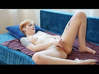 Tattooed danae finger fucking her snatch