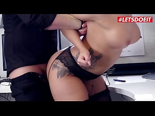 LETSDOEIT - Hot German Secretary Sucks And Fucks Her Boss For a Raise