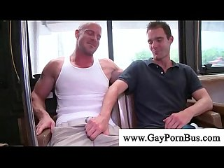 Gay man receives head on bus