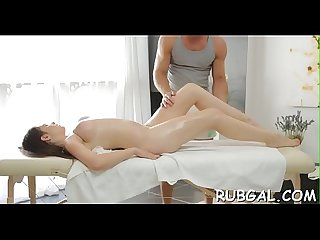 Massage with cheerful ending