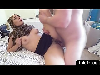 Arab beautys hairy pussy filled with cock