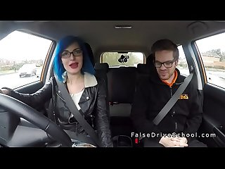 Busty alt student anal bangs in car