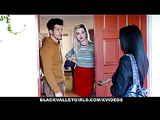 Blackvalleygirls ebony Maya bijou deepthroats and sneak fucks her neighbor
