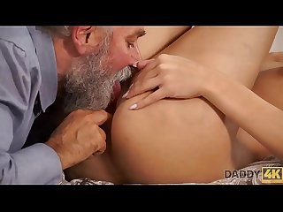Daddy4k beautiful blonde embarks morning sex with handsome daddy