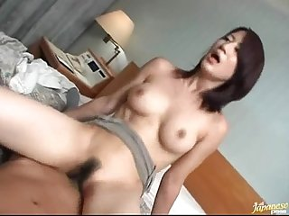 Asian sex with hairy girl in hotel