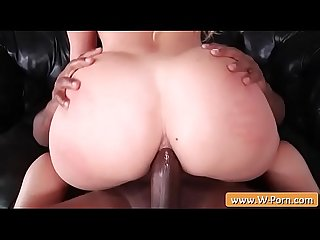 Big butt bounce on a huge black dick - Rico Strong & AJ Applegate