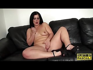 Fingered mature british spreads her legs