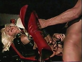Beautiful high heels blonde milf hard anal big cock leather fetish helen duval