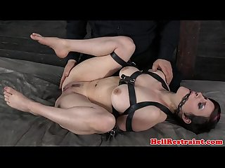 Tied up bondage bdsm subs clit paddled
