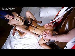 Porn parody from Jean-Marie Corda - Tyrion Lannister fucks two hot slave in all their holes