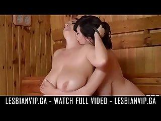 Sauna bbw lesbians