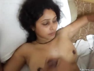 Desi has oral and missionary sex
