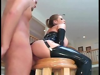 Secretorgasms com busty milf fucking in latex stockings and a Corset
