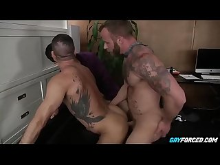 Bareback in office is good for business gayforced com
