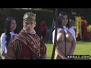 King fucks his busty slutty servants jasmine and anissa