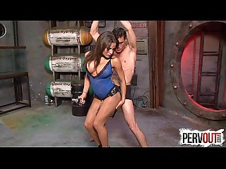 Chichi fucks and milks her slave