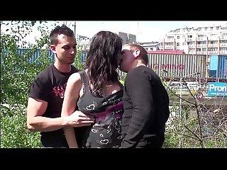 Pregnant pornstar stella fox aka maria gwen public sex gangbang threesome