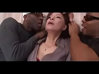 Japanese Mature black gangbang abuse