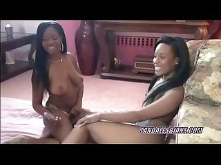 Ebony rachel sharing her toys with busty mercy