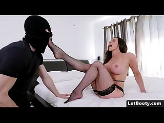 Perfect brunette milf in stockings with fat ass and big tits