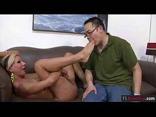Mature tranny anal fucks younger dude