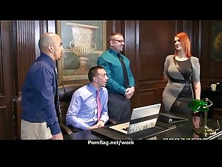 Submissive office busty assistant finally fucks her boss 26
