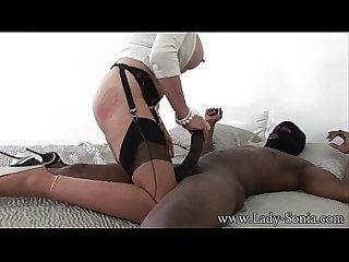 Lady sonia the trophy wife and the black intruder bareback