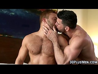Muscly bears 3way fuck