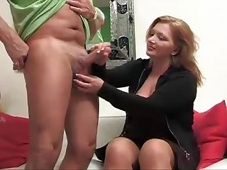 Busty german with big boobs knows how to handle a big cock