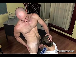 Jock in big cock trouble