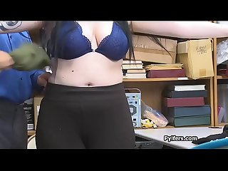 Curvy big tit suspect bends over for serious dicking