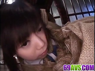 Minami asaka licked and fucked hard by two males