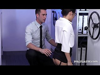 Carolina abril takes it from behind in the office