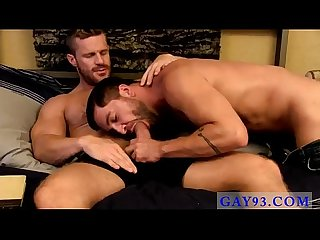 Gay sex rim hot movie gorgeous landon greets dominic home with the