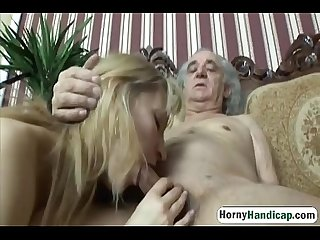 Horny old Fart with body handicap fucks classy young blonde hi 3