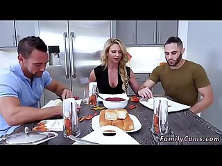 Family strokes game night full scene and friend s daughter foot job