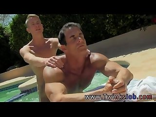 Horny young gay Twinks with the dudes cum running in rivulets down