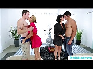 Bigtits milf veronica and Alexis group massage sex